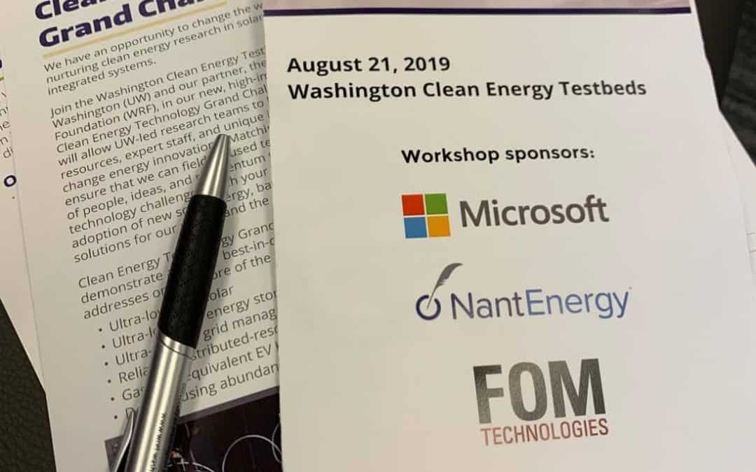 SPONSORING THE SEATTLE CLEAN ENERGY WORKSHOP