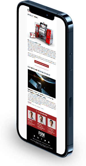 Image of newsletter on phone