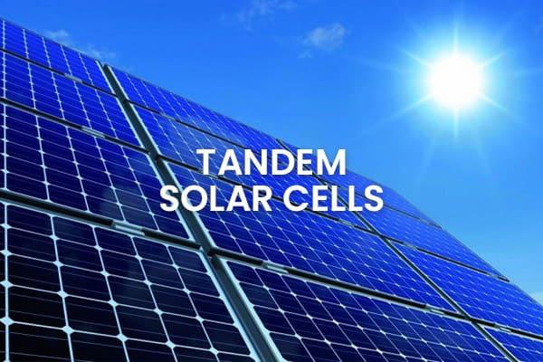 Tandem solar cells